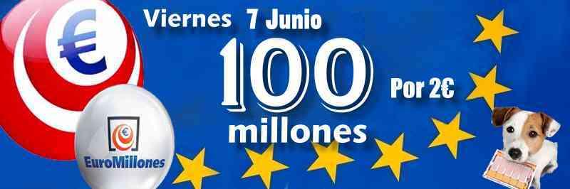 Próximo viernes 7 de Junio 100 millones de euros