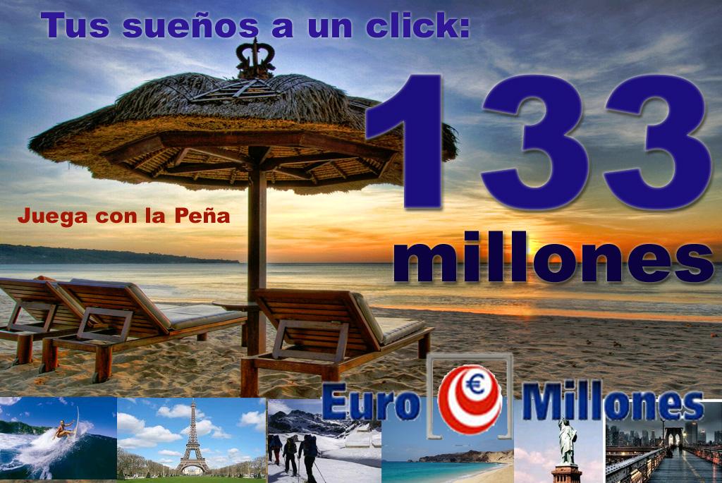 Esta semana 133 millones de Euros.